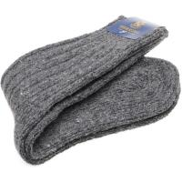 herring donegal wool sock in grey