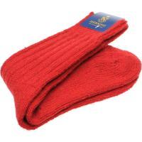 herring donegal wool sock in red