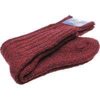 herring donegal wool sock in burgundy