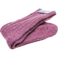 herring donegal wool sock in heather