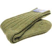 herring donegal wool sock in moss