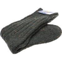 herring donegal wool sock in seaweed