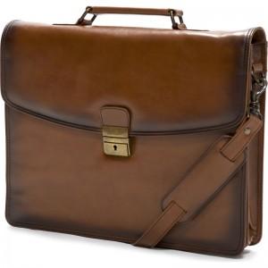 Jefford Briefcase in Tan Antiqued