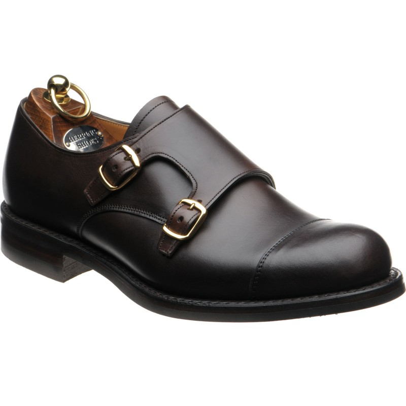 Buckfast rubber-soled double monk shoes