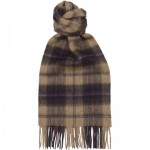 Oatmeal Check Scarf
