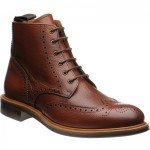 Herring Corbridge rubber-soled brogue boots