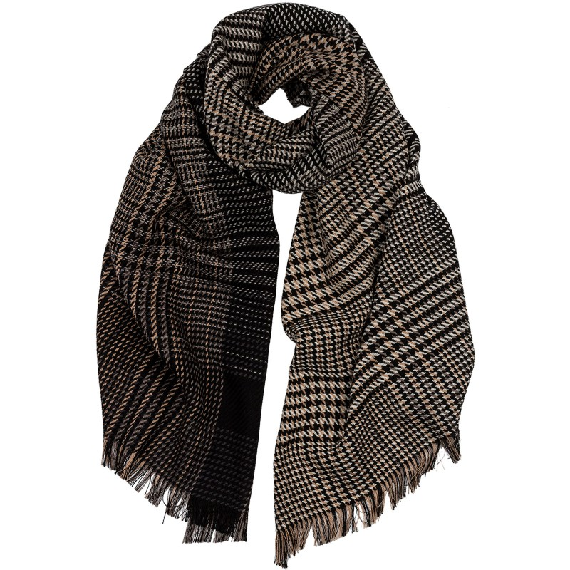 Ombre Glen Check Scarf