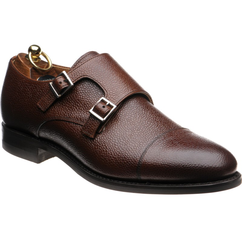 Alnwick rubber-soled double monk shoes