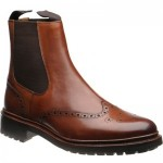 Herring Cartmel rubber-soled brogue Chelsea boots