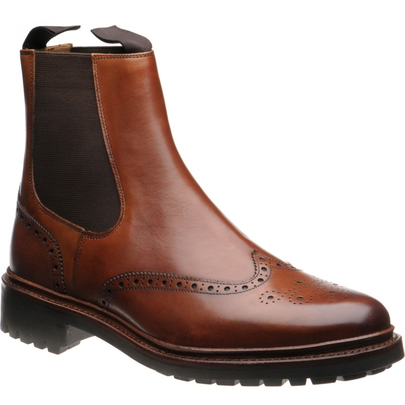 Cartmel rubber-soled brogue Chelsea boots