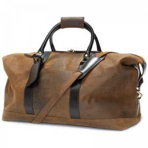 Herring Clapham Holdall in Tan Brown Waxy