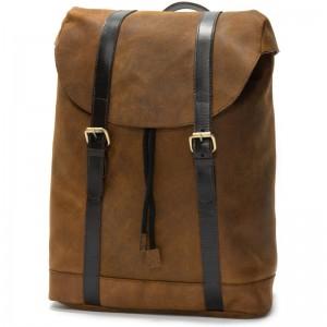 Herring Balham Backpack in Tan Brown Waxy
