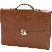 herring chancery briefcase in tan calf