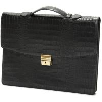 herring chancery briefcase in black calf