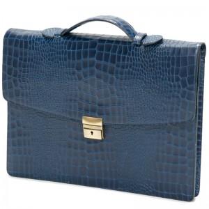 Herring Chancery Briefcase in Navy Calf