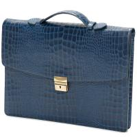 herring chancery briefcase in navy calf