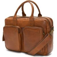 herring russell briefcase in chestnut calf