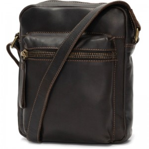 Herring Embankment Small Travel Bag in Brown Calf