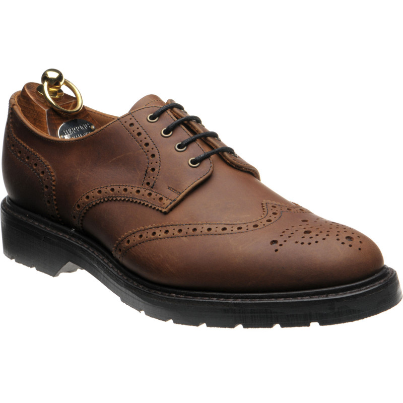 Herring Wellingborough rubber-soled brogues