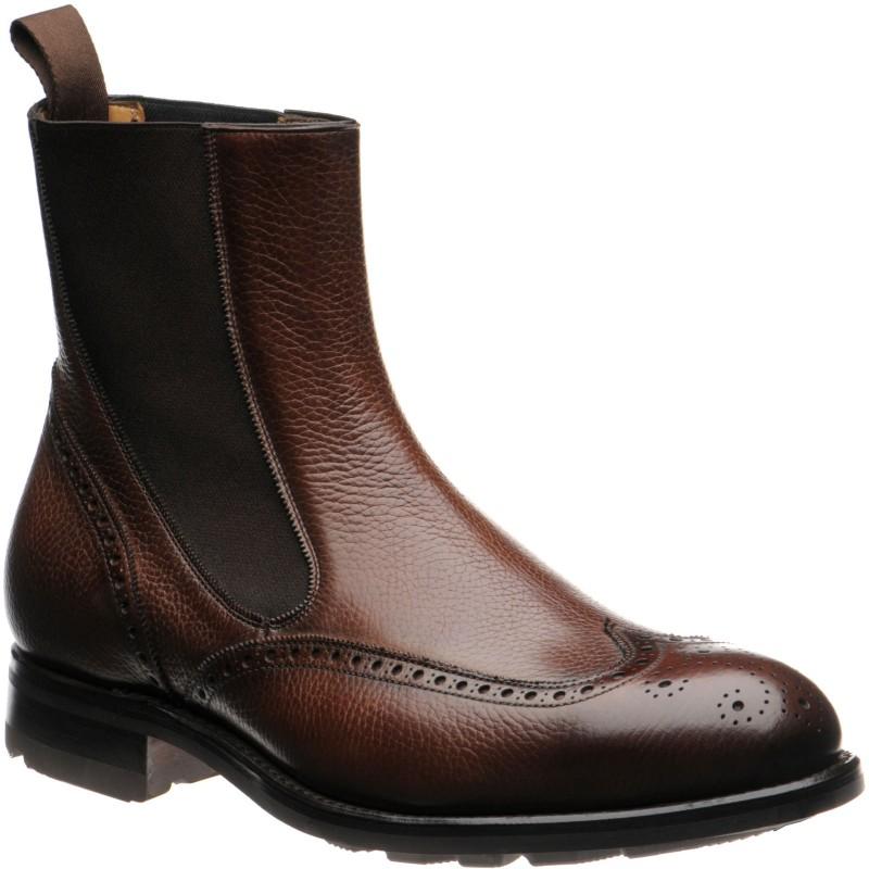 Clark rubber-soled brogue Chelsea boots