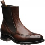 Herring Clark rubber-soled brogue Chelsea boots