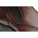 Clark rubber-soled brogue Chelsea boots
