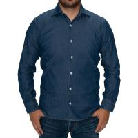 herring giotto shirt in dark blue