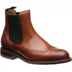 Herring Ridgeway  rubber-soled brogue Chelsea boots in Tan Calf