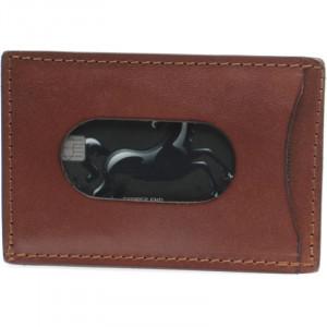 Tanner Card Holder in Brown Oak Bark Leather