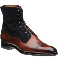 herring laverton ii in rosewood calf and navy suede