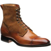 herring laverton ii in tan calf and ginger suede