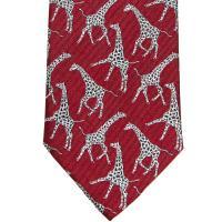 herring giraffe tie in red