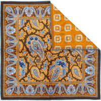 herring paisley 2 pocket square in orange
