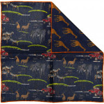 Safari Landrover Pocket Square