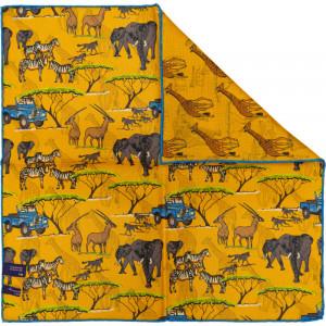 Herring Safari Landrover Pocket Square in Yellow
