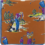 Herring Golf pocket Square