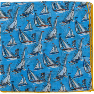 Yacht Pocket Square in Blue