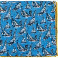 herring yacht pocket square in blue