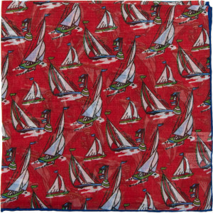 Yacht Pocket Square in Red