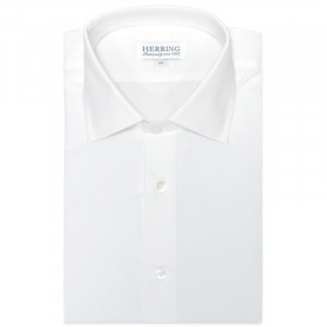 Herring Crispin Single Cuff Shirt in White