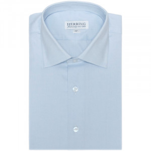 Herring Crispin Single Cuff Shirt in Blue