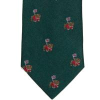herring british bulldog tie in green