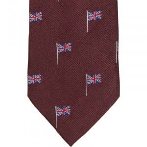 Herring Union Jack Tie in Wine