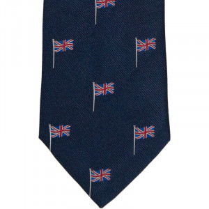 Herring Union Jack Tie in Navy