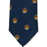 herring crown tie in navy