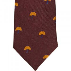 Herring Umbrella Tie in Wine
