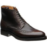 herring gromo in dark brown calf and grain