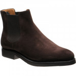 Herring Mantua rubber-soled Chelsea boots in Brown Suede