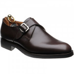 Herring Bergamo monk shoes in Dark Brown Calf
