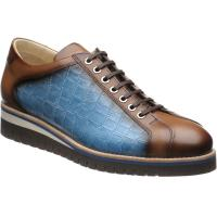 herring floyd in tan calf and blue mock-croc